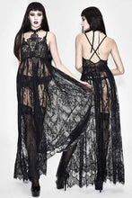 Load image into Gallery viewer, Eva Lady Gothic Sheer Lace Maxi Dress - Kate's Clothing