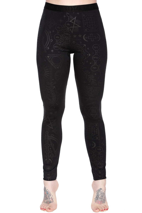 Killstar Exercise Your Demons Leggings - Kate's Clothing