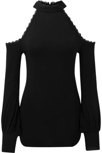 Killstar Kassandra Cold Shoulder Top - Kate's Clothing