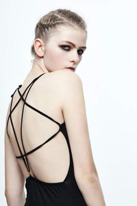Devil Fashion Pentagram Strap Dress - Kate's Clothing