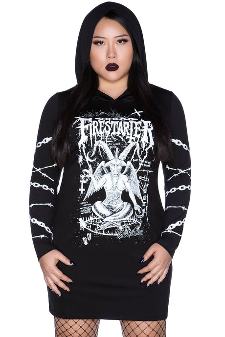 Killstar Firestarter Hood Dress Plus Size - Kate's Clothing
