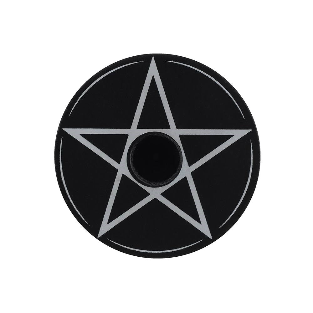 Gothic Gifts Pentagram Spell Candle Holder - Kate's Clothing