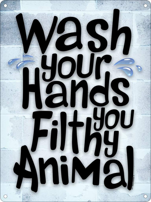 Wash Your Hands Mini Tin Sign