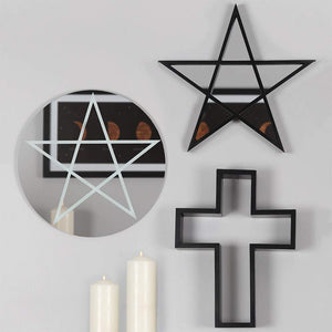 Gothic Gifts Black Cross Shelving Display