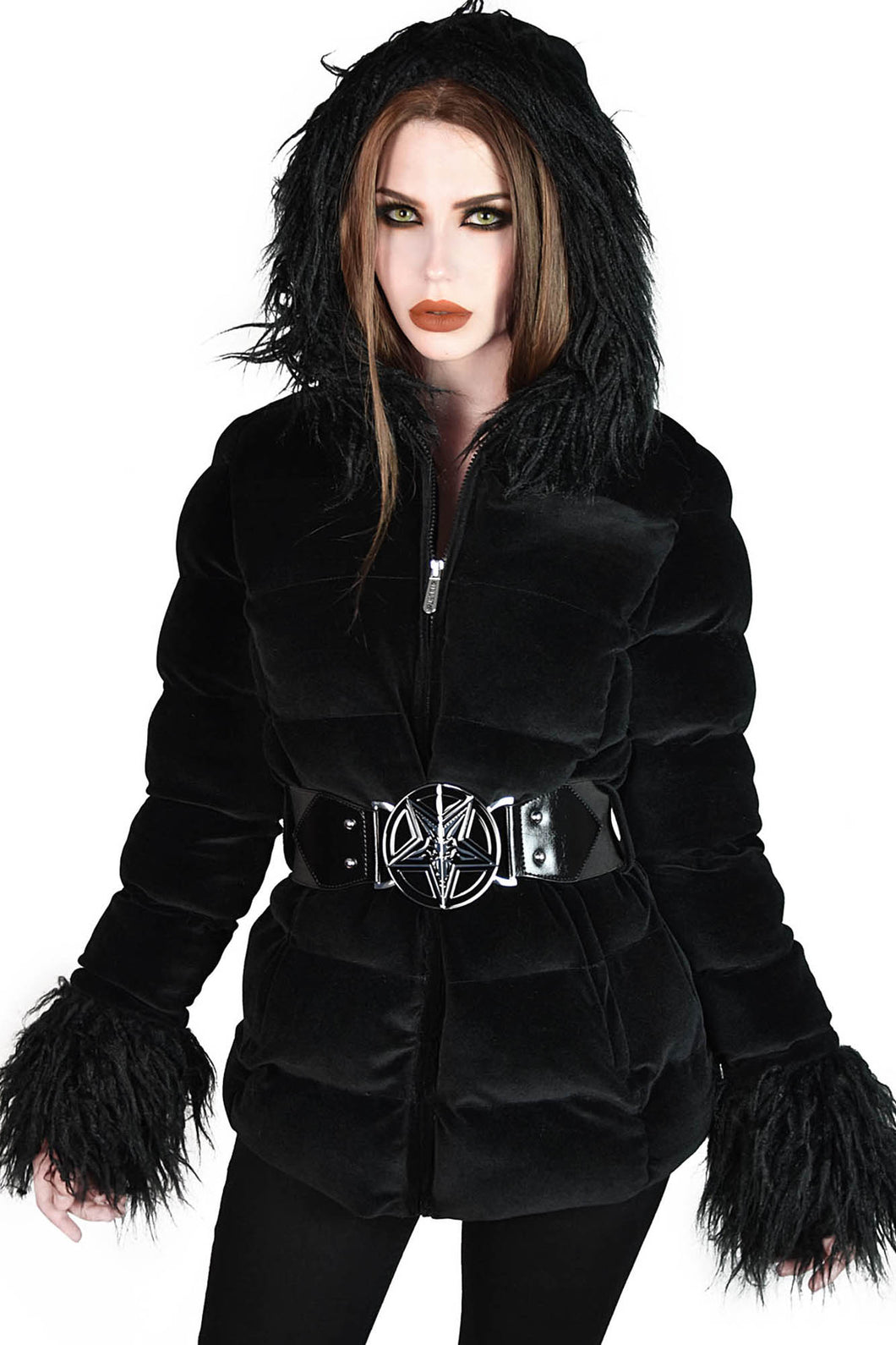 Killstar Gates Of Hell Hooded Coat - Kate's Clothing