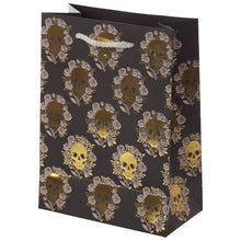 Load image into Gallery viewer, Gothic Gifts Skulls & Roses Medium Gift Bag - Kate's Clothing