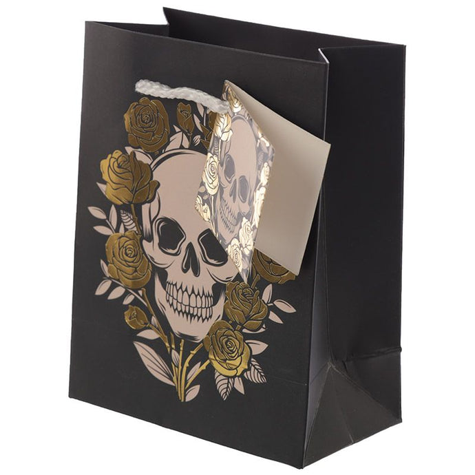 Gothic Gifts Small Skull Gift Bag - Kate's Clothing