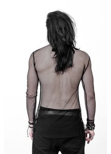 Necessary Evil Gothic Kane Mens Fishnet Top - Kate's Clothing