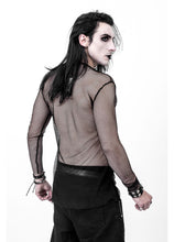 Load image into Gallery viewer, Necessary Evil Gothic Kane Mens Fishnet Top - Kate's Clothing