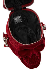 Load image into Gallery viewer, Killstar Grave Digger Blood Red Velvet Handbag - Kate's Clothing