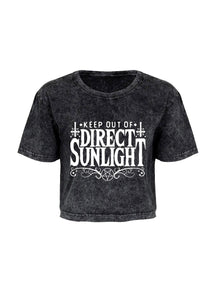Keep Out Of Direct Sunlight Cropped T-Shirt - Kate's Clothing