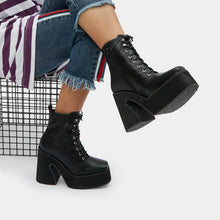 Load image into Gallery viewer, Koi Enchantra Heeled Lace Up Boots - Kate's Clothing
