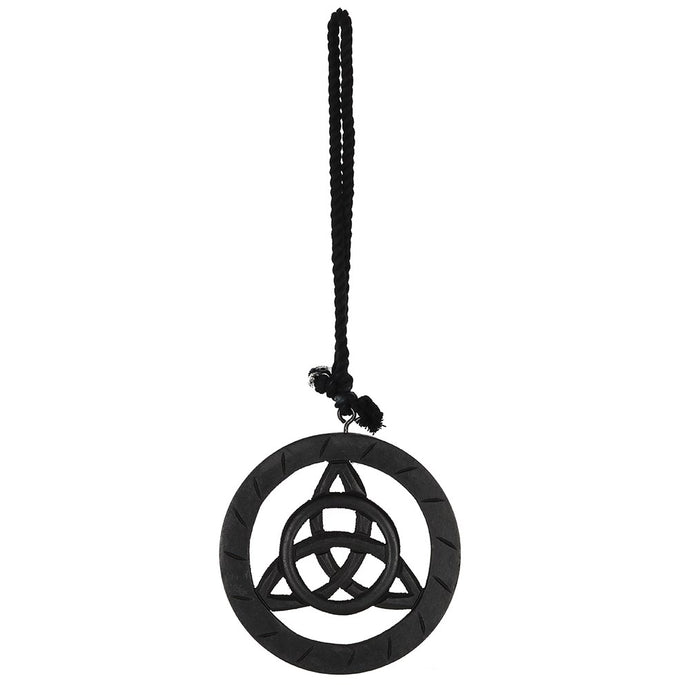 Gothic Gifts Black Wooden Hanging Triquetra