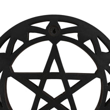 Load image into Gallery viewer, Gothic Gifts Black Wooden Pentagram Wall Art