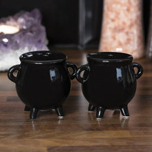 Load image into Gallery viewer, Gothic Gifts Cauldron Salt and Pepper Pots - Kate's Clothing