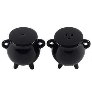 Gothic Gifts Cauldron Salt and Pepper Pots - Kate's Clothing