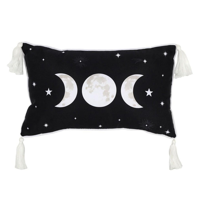 Gothic Gifts Triple Moon Cushion with Tassels - Kate's Clothing