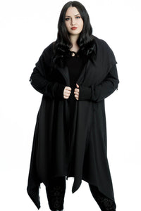 Killstar Plus Size Assassins Hooded Cardigan - Kate's Clothing