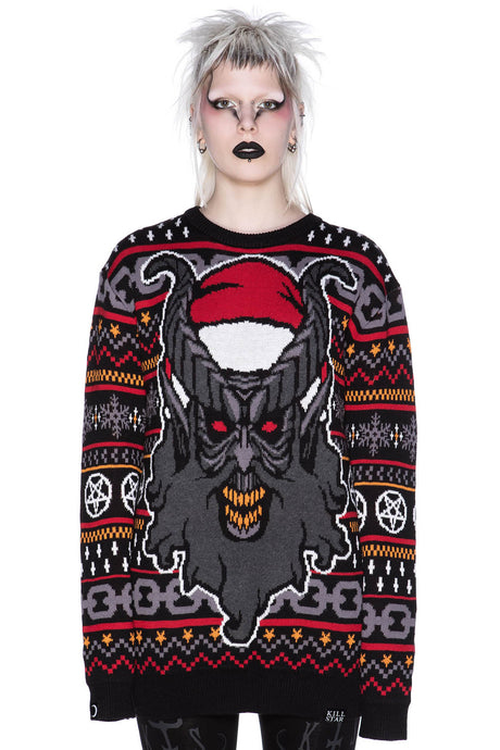 Killstar Hail Santa Knit Sweater [LTD] - Kate's Clothing