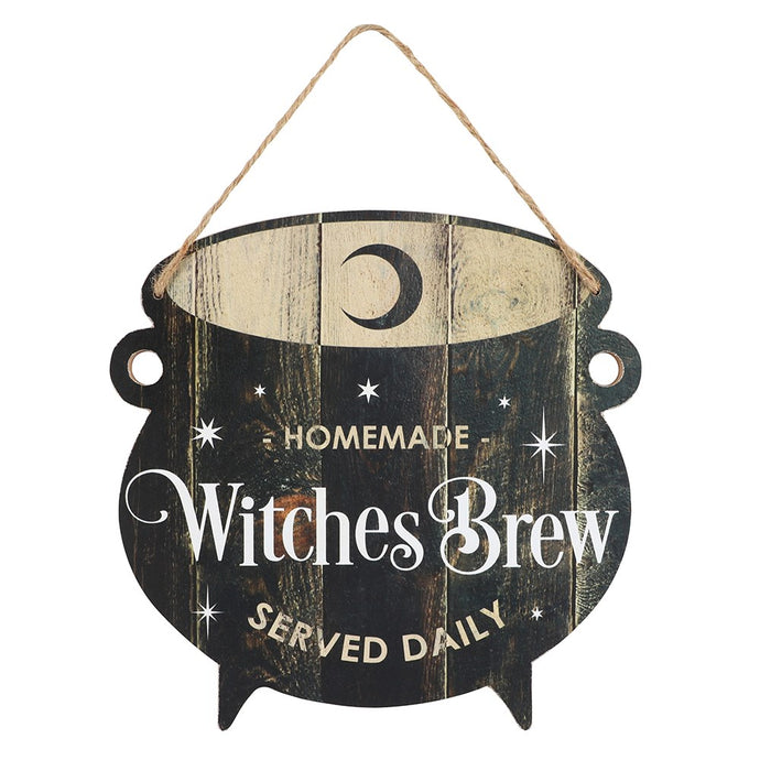 Gothic Gifts Witches Brew Cauldron Wall Hanging