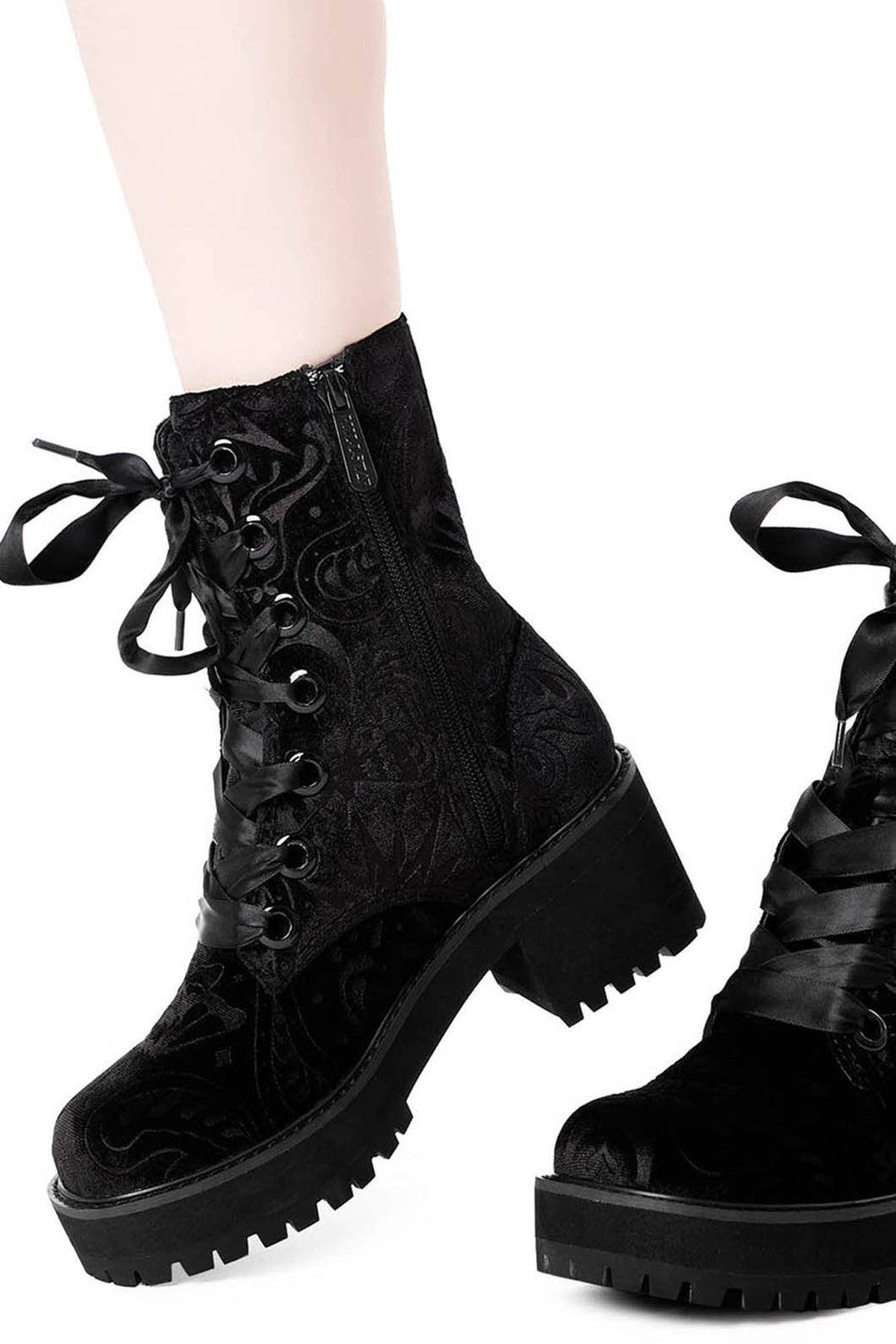 Killstar Heather Combat Boots - Kate's Clothing