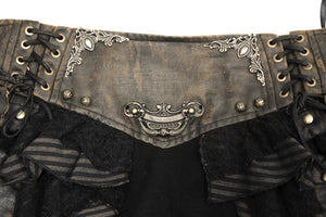 Devil Fashion Steampunk Mini Skirt - Kate's Clothing