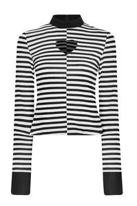 Punk Rave Tansy Stripe Top - Kate's Clothing