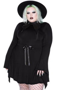 Killstar I'm Bats Collar Dress Plus Size - Kate's Clothing