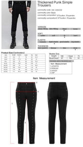 Punk Rave Mens Eyelet Jeans - Kate's Clothing
