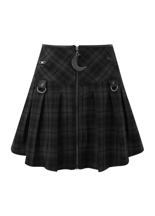 Killstar Tartan Kristen Pleated Mini Skirt - Kate's Clothing