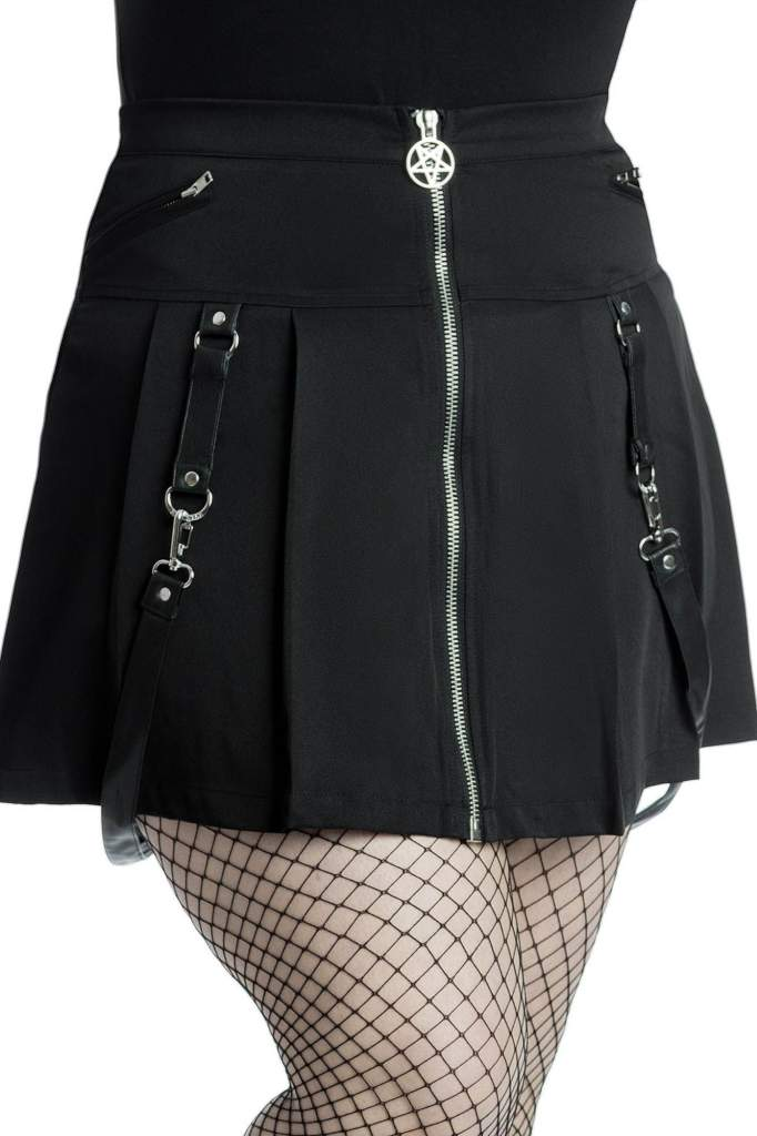 Killstar Plus Size Blaire B*tch Mini Skirt - Kate's Clothing