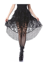 Load image into Gallery viewer, Dark In Love Layered Mesh Mini Skirt