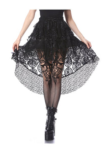 Dark In Love Layered Mesh Mini Skirt
