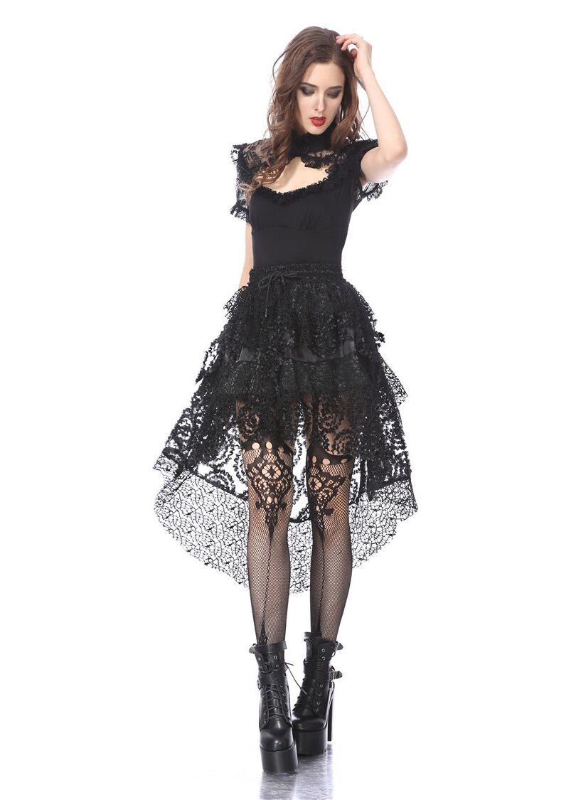 Dark In Love Layered Mesh Mini Skirt - Kate's Clothing