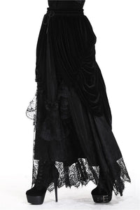 Dark In Love Arabella Black Maxi Skirt - Kate's Clothing