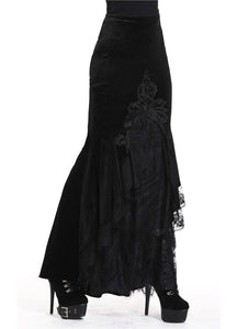 Dark In Love Cordelia Velvet Skirt