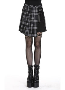 Dark In Love Leah Tartan Mini Skirt - Kate's Clothing