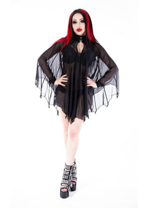 Necessary Evil Cybele Bat Wing Dress - Kate's Clothing