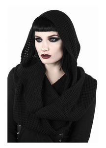 Killstar Helsinki Hooded Scarf - Kate's Clothing