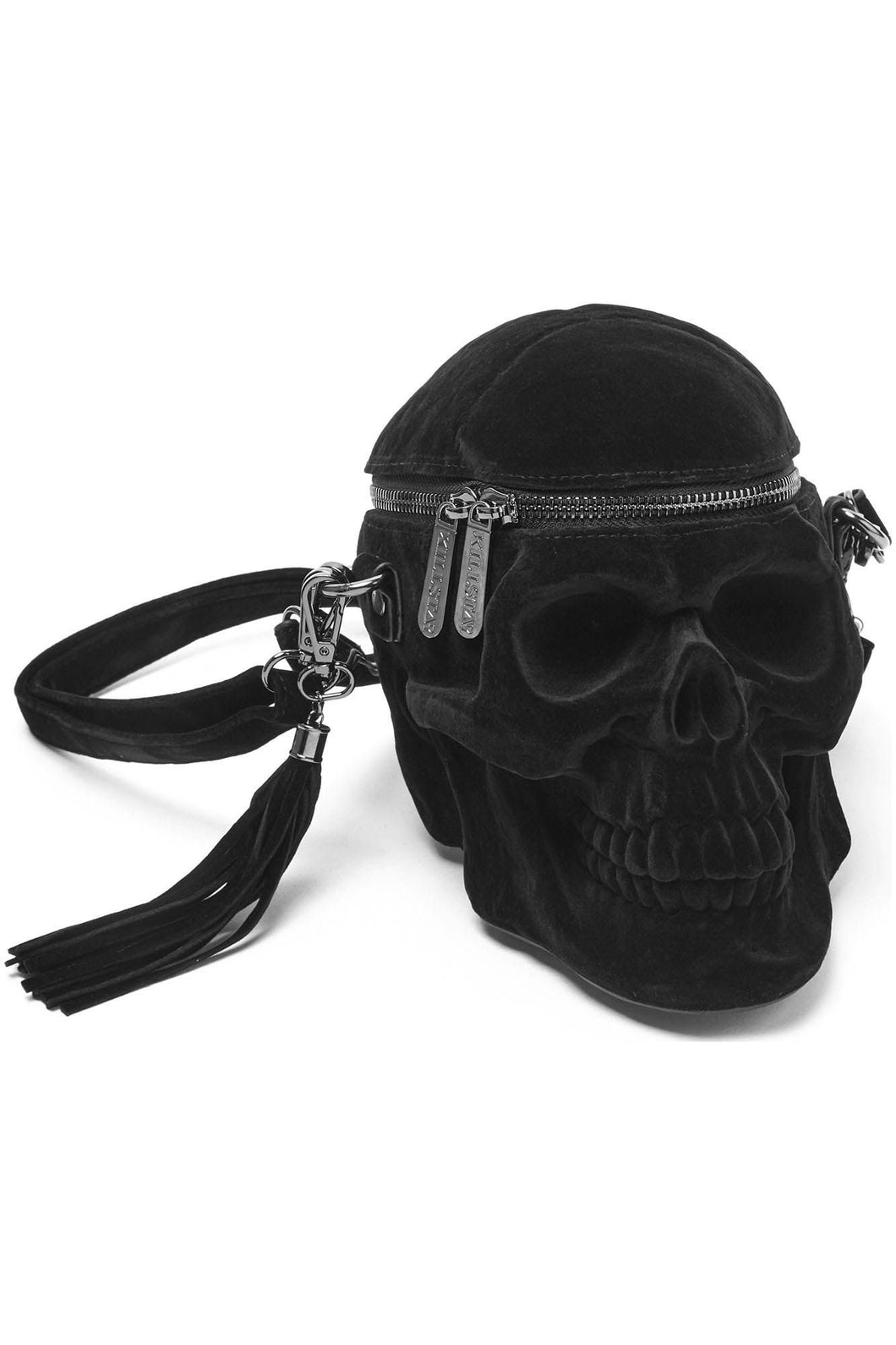 Killstar Velvet Grave Digger Skull Handbag - Kate's Clothing