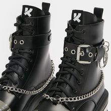 Load image into Gallery viewer, Koi Borin Hardware Platform Boots - Kate's Clothing