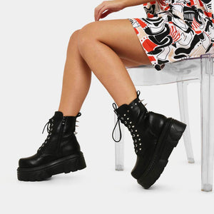 Koi Kanabo Chunky Spike Stomper Boots - Kate's Clothing