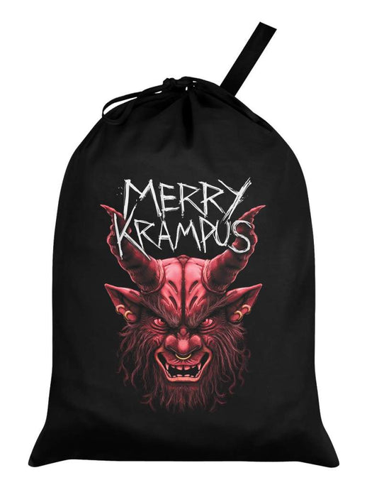 Merry Krampus Black Santa Sack