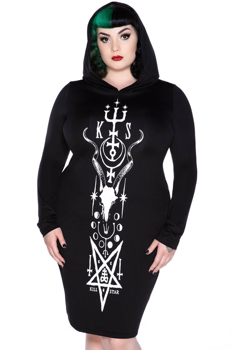 Killstar Lethia Midi Dress Plus Size - Kate's Clothing