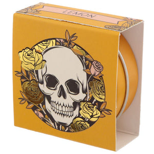 Gothic Gifts Skulls & Roses Lemon Lip Balm - Kate's Clothing