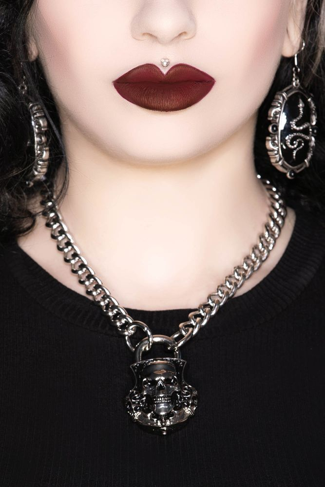 Killstar Lock Me Up Necklace - Kate's Clothing