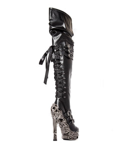 Hades Lokie Thigh High Boots - Kate's Clothing
