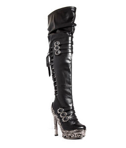 Hades Lokie Thigh High Boots