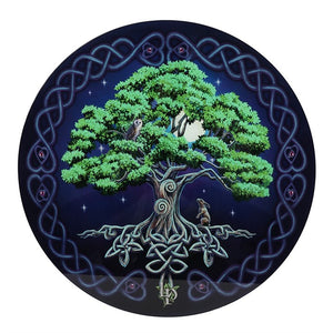 Gothic Gifts Tree Of Life Glass Table - Kate's Clothing