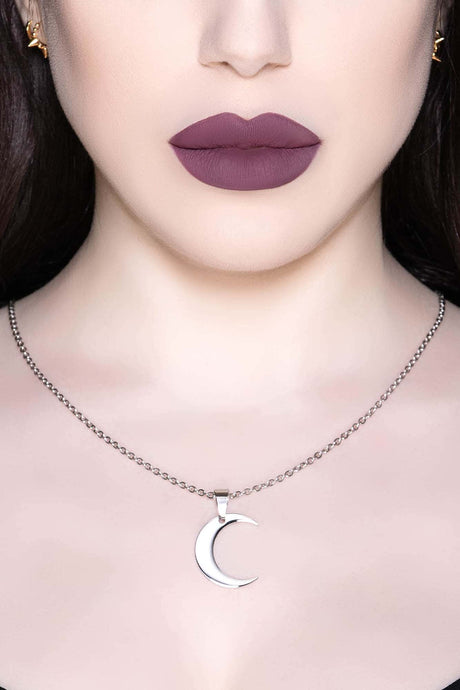 Killstar Lunar Necklace Silver - Kate's Clothing